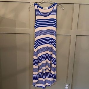 Olive & Oak Striped High Low Dress Size XS